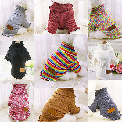 Pet Coat Dog Jacket Winter Clothes Puppy Cat Turtleneck Sweater Clothing Apparel