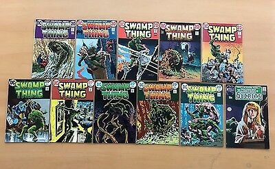 Swamp Thing 1-10 + House of Secrets 92 1st Appearance of Swamp Thing Lot Run