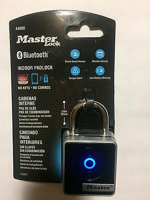 Master Lock 4400D Indoor Bluetooth Smart Padlock - Brand New Masterlock