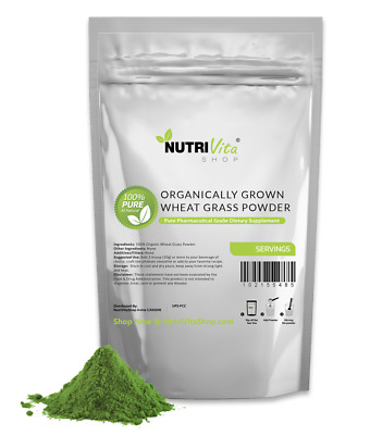 1.1 lb (500g) 100% PURE WHEAT GRASS POWDER USDA CERTIFIED ORGANIC - SUPERFOOD