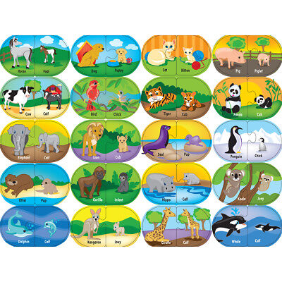 Learning Puzzle Games Animal Matching 40 Pieces 112-60