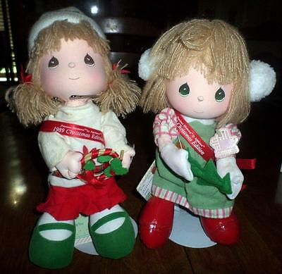 1988 & 89 Precious Moments Christmas Edition Dolls Annie Missy by Applause BC