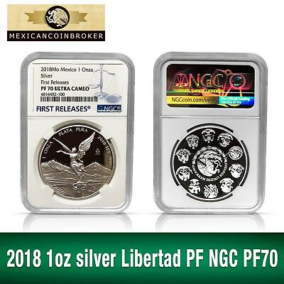 2017 1oz Silver Libertad Proof*Treasure Coin of Mexico ™NGC PF 70 Early Release