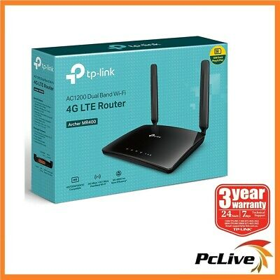 TP-Link Archer MR400 AC 1350Mbps Wireless Dual Band 4G LTE Router SIM Card Slot