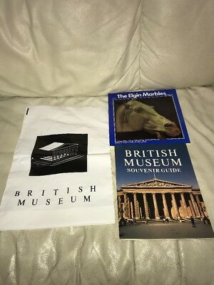2 Vintage BRITISH MUSEUM SOUVENIR GUIDE & THE ELGIN MARBLES Book Lot