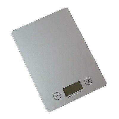 New 5kg 1g Electronic Digital Glass Kitchen Scale food weight Black Silver