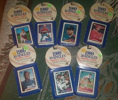 1989 30  SINGLES Baseball Cards Topps Unopened packages