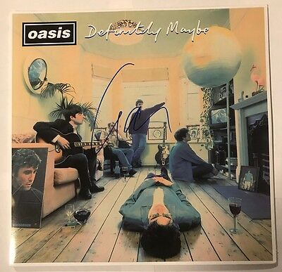 Liam Gallagher Signed Oasis Definitely Maybe LP Album Auto JSA # S79504 Rare