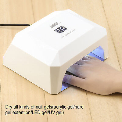 36W UV Light Nail Dryer LED Curing Lamp Machine For Gel Polish Manicure Pedicure