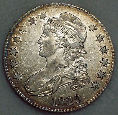 1829 BUST Half Dollar SILVER O-112 Variety *RARE* XF Detailing Authentic 50C .50