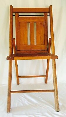 Vintage Wood Folding Chair by The Standard Mfg Co.