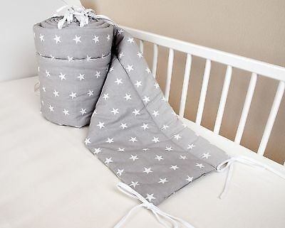 Amilian Baby Cot Bumper Wrap Around Protection For Baby's Bed With Head Guard...