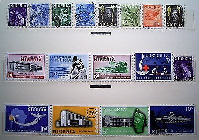 Nigeria 17 Stamp Selection as Photographed