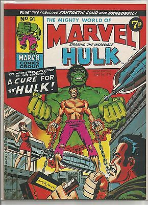 Vintage Marvel World / Incredible Hulk comic book #91 from June 1974