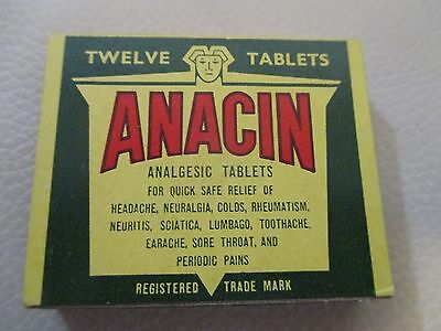 VINTAGE ANACIN TABLET PACKET IN MINT COND'N -C.1930/40s