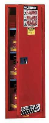 JUSTRITE 892221 Flammable Cabinet, 22 gal., Red