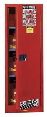 JUSTRITE 892221 Flammable Cabinet,22 Gal.,Red G2257985