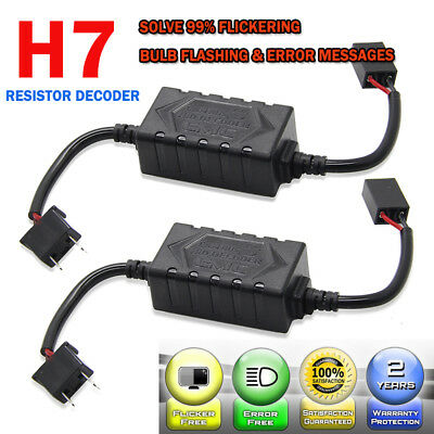 H7 Car LED Headlight Load Resistor Canbus Decoder Error Free Canceller Adapter
