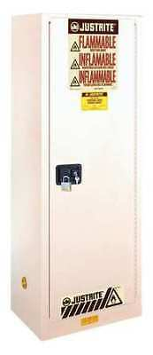 JUSTRITE 892205 Flammable Cabinet,22 Gal.,White G2258000