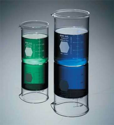 KIMBLE KIMAX 14005-400 Beaker,400mL,Glass,400mm H.,PK48