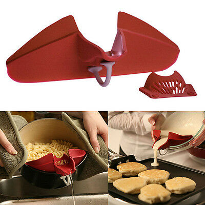Hot Silicone Soup Funnel Kitchen Gadget Tools Water Deflector Cooking Tool New