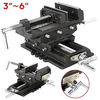 3 4 5 6 inch Cross Slide Vise Wide Drill Press X - Y Clamp Milling 2 Way HD OY