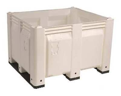 """DECADE PRODUCTS M40SWH3 Bulk Container, White, 36-3/4""""W"""