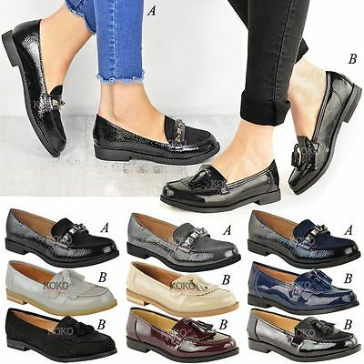 66f35b98 WOMENS LADIES LOAFERS Brogues Pumps Casual School Office Comfy Work Flats  Size