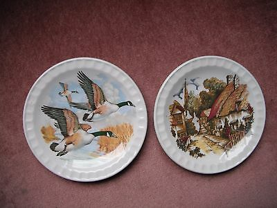 Royal Falcon Ware 2 display plates / dishes approx 12.5cm diameter