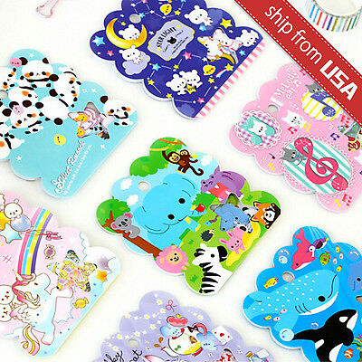 Lot 50 Japan Kawaii Cartoon Cat Panda Fish Animal Diary Sticker Flakes Seal Cute