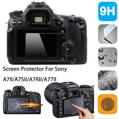 9H Tempered Glass LCD Screen Protector Film For Sony A7II A7SII A7RII A77II