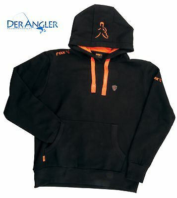 Fox Hoody Black/ Orange Gr. M Sweatshirt Kapuzenpullover