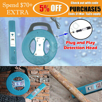 New Blockage Jam Finder Locator for Embedded Sewer Pipe Pipeline 20m Snake Cable