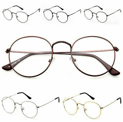 Oval Round UNISEX Clear Lens Glasses 60s Style Geek Nerd Eyeglasses