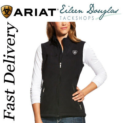 Ariat Womens Team Soft Shell Vest Ladies Waistcoat Gilet Body Warmer