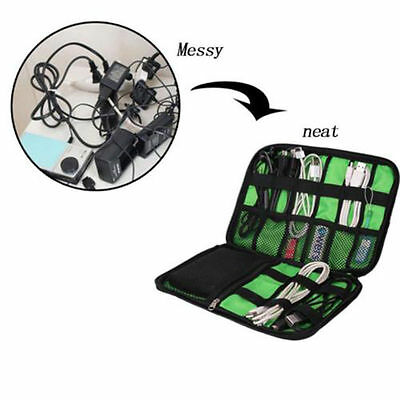 Electronic Accessories Cable USB Drive Organizer Bag Travel Insert Case Nice W