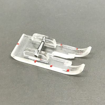 1/4 inch quilting foot clear with Red markings