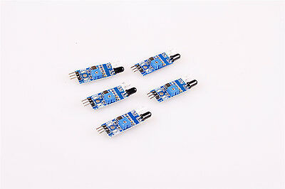 New Obstacle 5Pcs IR Infrared Avoidance Sensor for Smart Car 3-wire UK