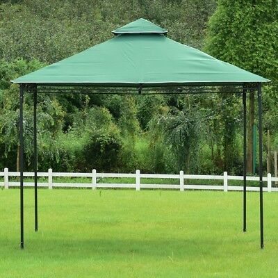 Patio 2-Tiers 10' x 10' Wedding Party Tent Compact Shelter Gazebo Canopy Outdoor
