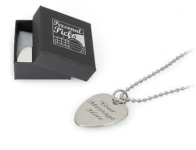 Personalised Plectrum Ballchain Necklace - Engraved With Your Message