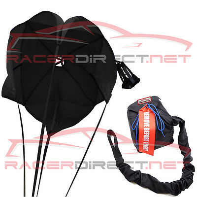 Racerdirect.net Drag Parachute Spring Loaded All Black Drag Chute