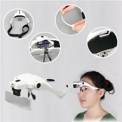 10X 15X 20X 25X 35X Magnifier Loupe Magnifying Glasses With 2 Led Lights Lamp
