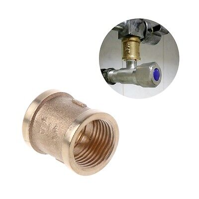 "1/2"" Brass Thickened Connectors Faucet Joints Pipe Fittings Accessories New"