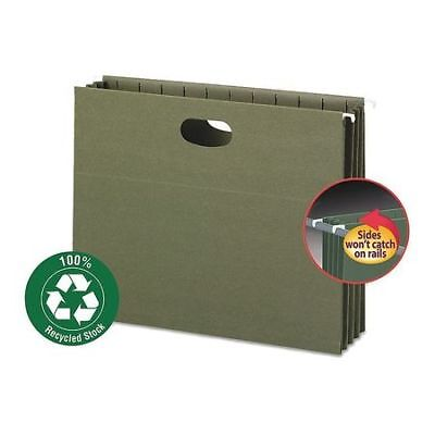 SMEAD 64226 Hanging Pocket Folder, Green, PK10