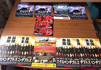 Bruce Willis - rare original Japanese Posters for RED / Expendables / Surrogate