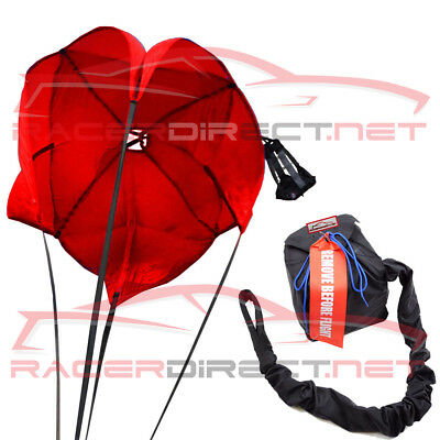Racerdirect.net Drag Parachute Spring Loaded Red Drag Racing Chute