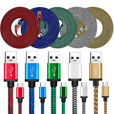 LOT 3FT USB-C Type-C Data Sync Charger Charging Cable Cord for Samsung S8/Plus