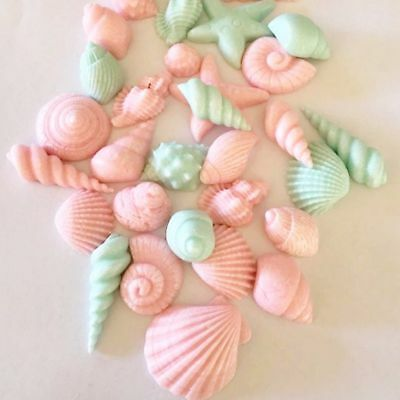 Edible Shell Starfish Sea Fondant Cake Decoration Wedding Party Birthday