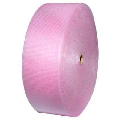 """Perforated Anti-Static Bubble Roll 48"""" x 750 ft., 3/16"""" Thickness, Pink"""