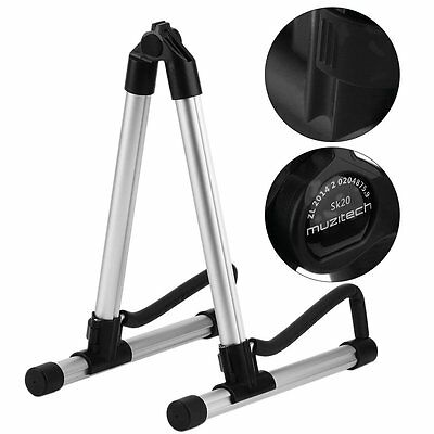 Folding Electric Acoustic Bass Guitar Stand A Frame Floor Rack Holder SY